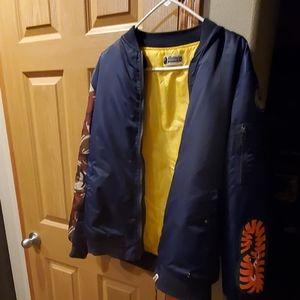 Bape Blue/Camo Authentic Bomber Jacket Size M